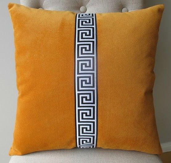 trim idea for clients · Orange Throw PillowsVelvet ... & trim idea for clients | sewing inspiration | Pinterest | Greek key ... pillowsntoast.com