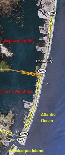 Map Of Ocean City Md Assawoman Is Where We Go Crabbing Generations Now Ocean City Ocean City Maryland Beach Ocean City Maryland