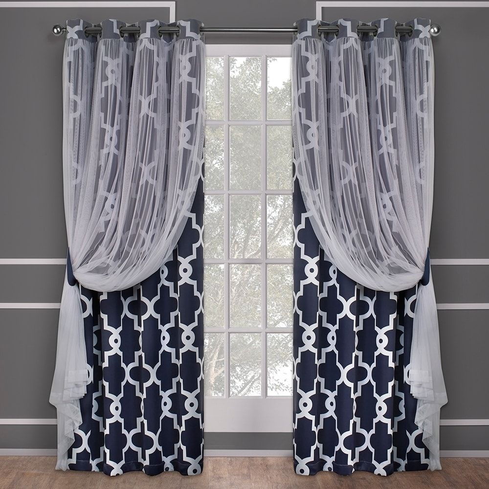 Ati home alegra layered blackout and sheer curtain panel pair w