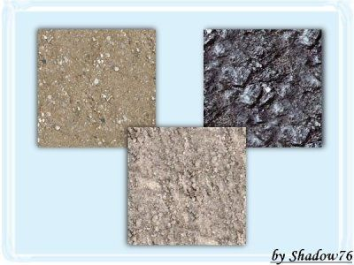Rock floors for your Sim cave.