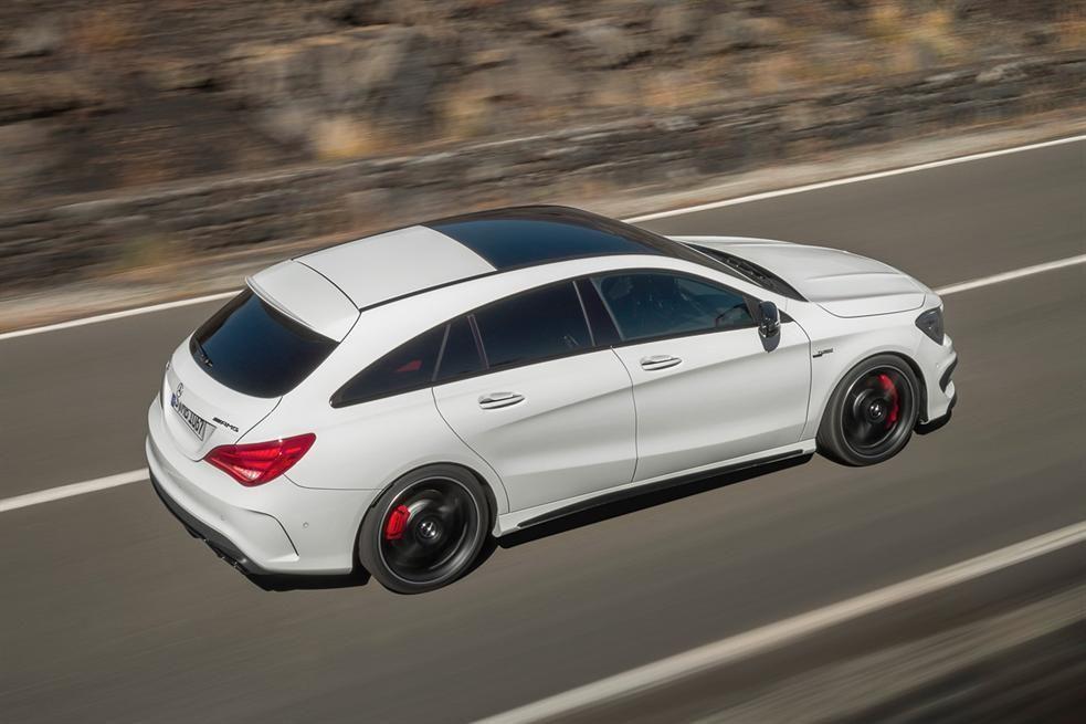 Mercedes Cla Shooting Brake White Photos Carbooq Beta