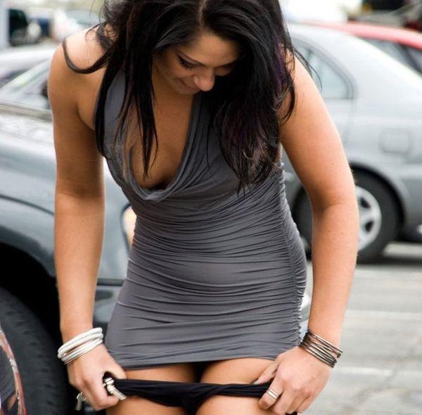 Girls taking off panties