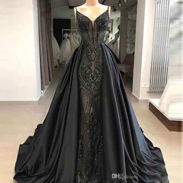 Photo of India sarees sexy evening dresses with jacket and sleeves v-neck appliques robe de soiree chiffon long evening dress vestidos