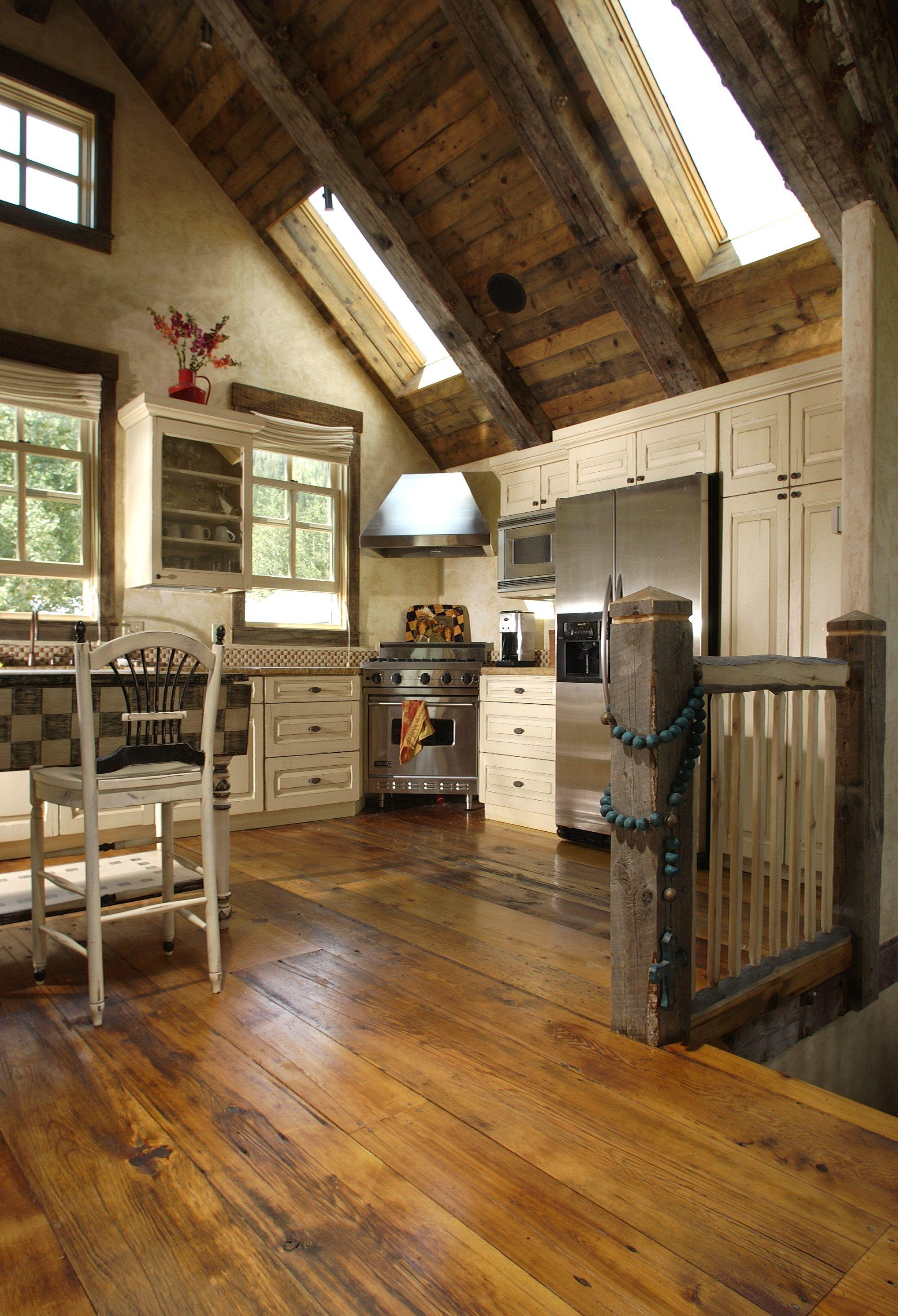 Reclaimed Milled Barnwood Colorado Kitchen Carlisle Wide Plank