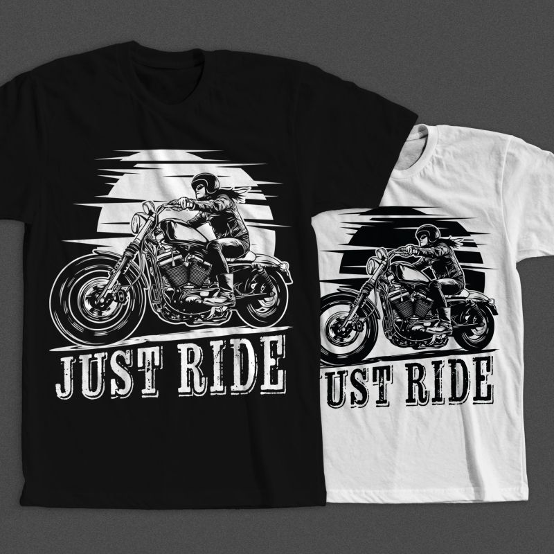 Pin By Best Graphic Design On T Shirt Designs: Biker Girl Buy T Shirt Design