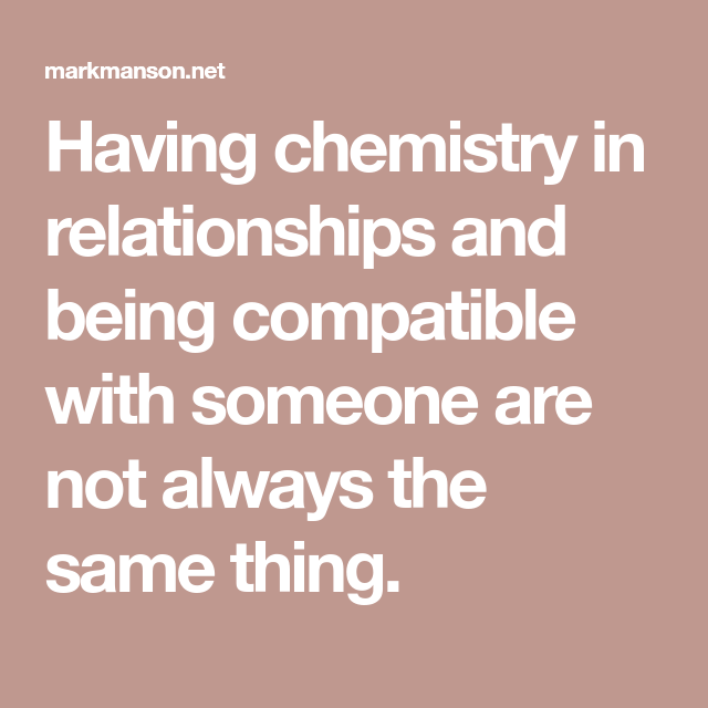 Building chemistry in a relationship