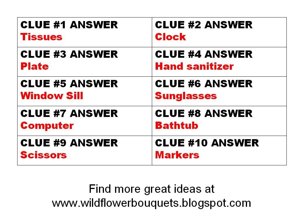 Katrena S Indoor Scavenger Hunt 3 Free Clues And Prizes Wildflower Bouquets Enjoy Simple Pleasures