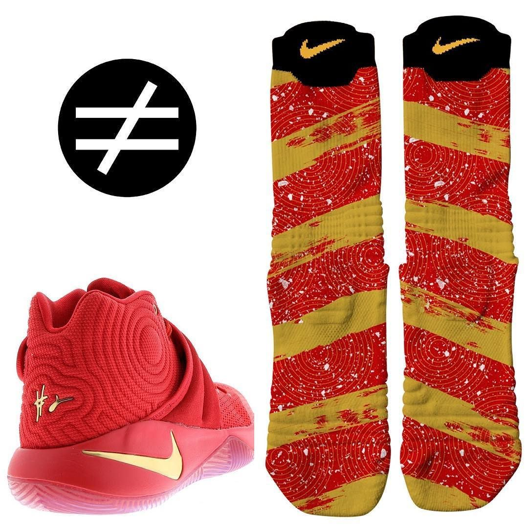 reputable site d0f8c 505bd Kyrie 2 Gold Medal Custom Nike Elite Versatility ONLY at ...
