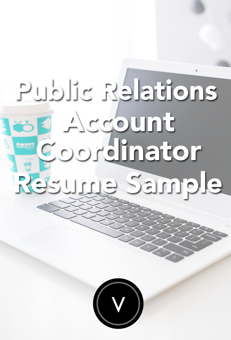 Public Relations Account Coordinator Resume Sample Work Help