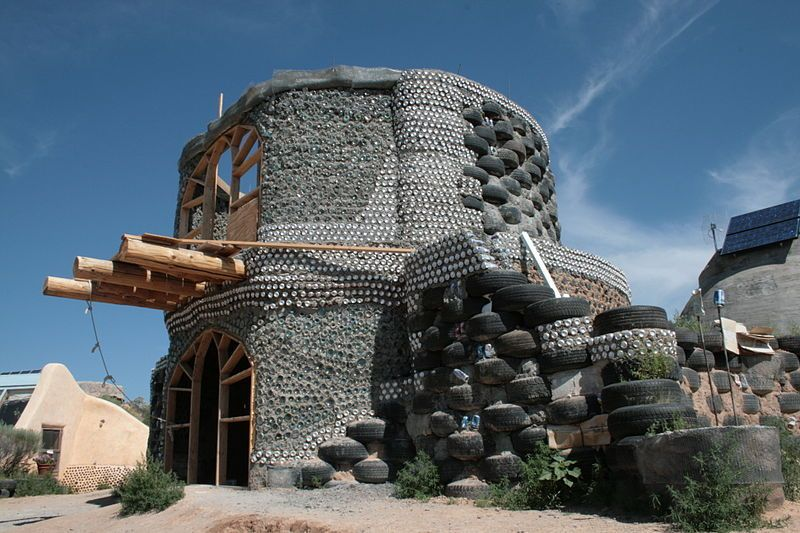 From The Home Front Earthships Are Designed For Self Sufficiency Graywater Use Greenest Home Earthship Earthship Home Earthship Biotecture