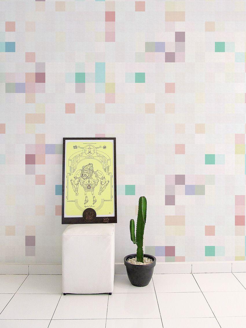 Papel De Parede Adesivo Pixel Brilho | Collector55   Collector55