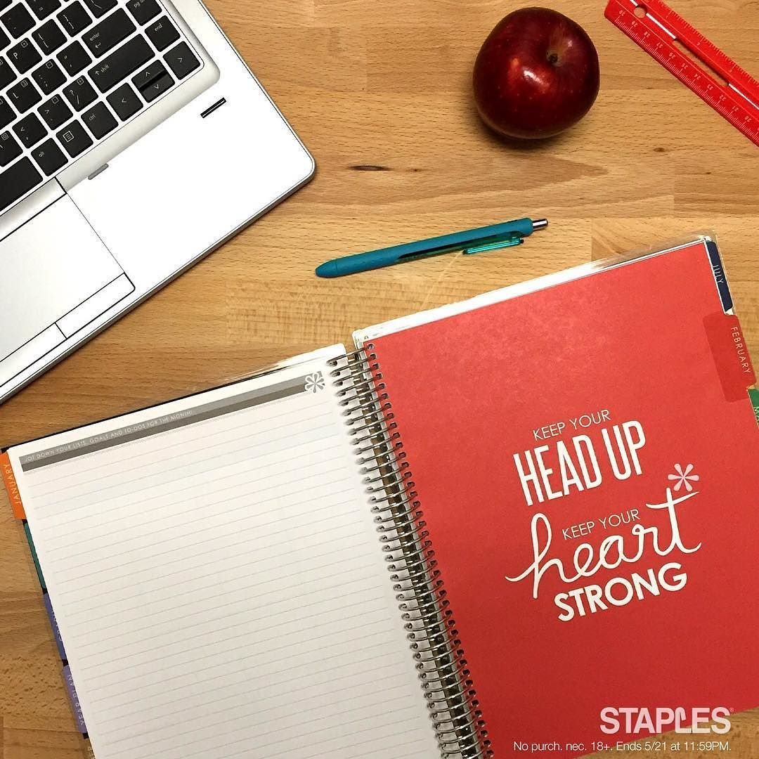 There's still time to enter your favorite Teacher in our #Sweepstakes to win an @erincondren teacher planner. Just mention them in the comments below.  Be sure to use @staples and #thanksamillion. See rules in bio. #teacherappreciationweek #teachersday #teacherlife by staples