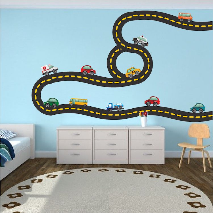 Race Car Decal Sports Wall Decal Murals Race Track Wall - Wall decals carsracing car wall decal ideas for the kids pinterest wall