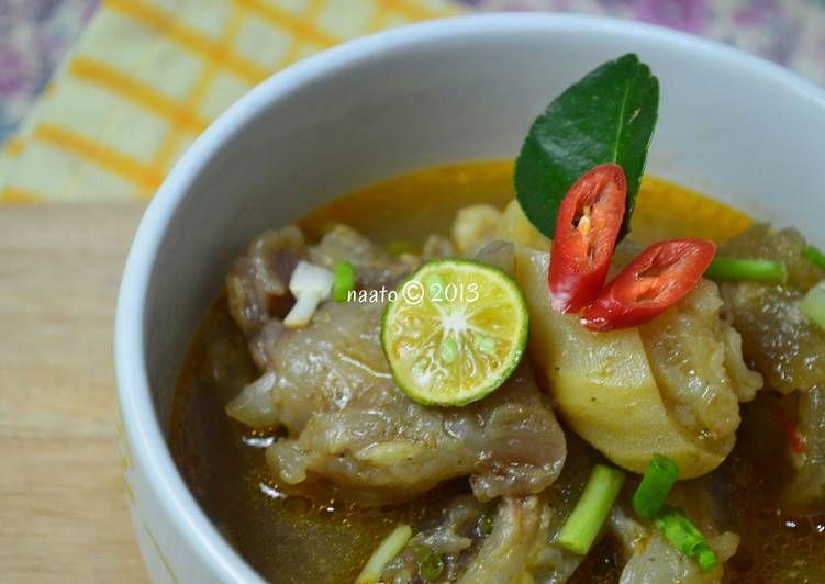 Resep Lontong Kikil Khas Suroboyo Oleh Dina Riesti Resep Makanan Resep Resep Makanan