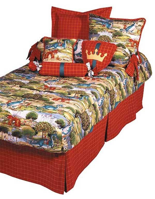Nottingham Dragon Print Bunkbed Hugger Comforter By California Kids
