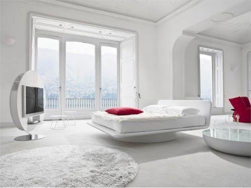 Spierwitte slaapkamer van Bonaldo | Interieur inrichting | huis ...