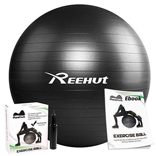 Reehut Anti-Burst Core Exercise Ball w  Pump   Manual for Yoga ... 4d343daf4fb3