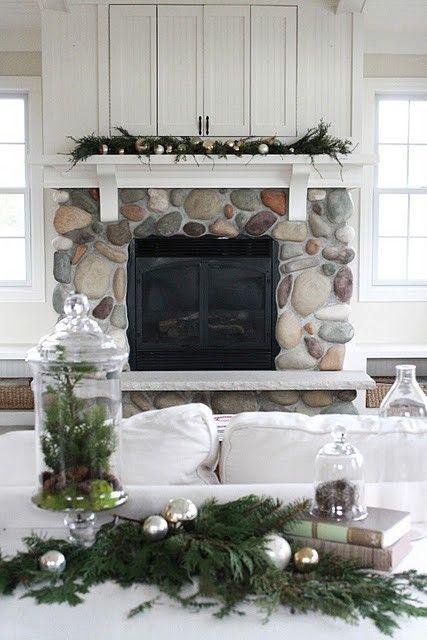 Christmas decorating Fireplace Pinterest Decor, Living Room
