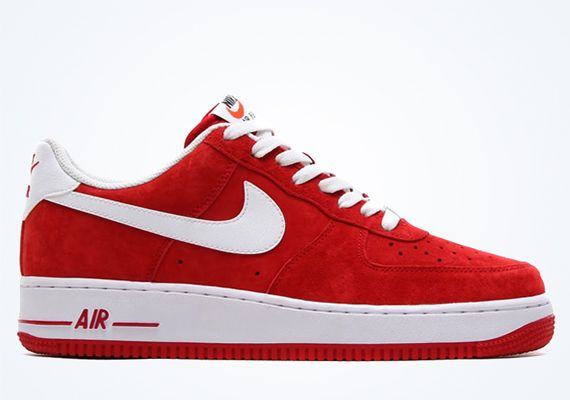 red and white air force ones