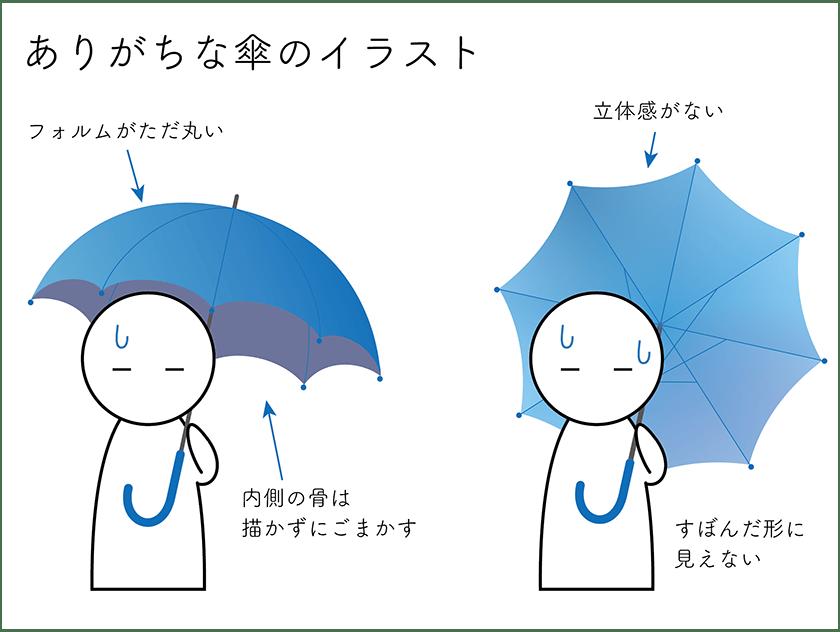 傘の描き方 コツをおさえて簡単リアルillustratorチュートリアル