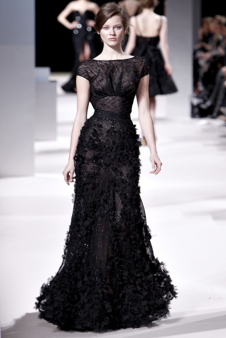 This lacy black number is gothic and moody.