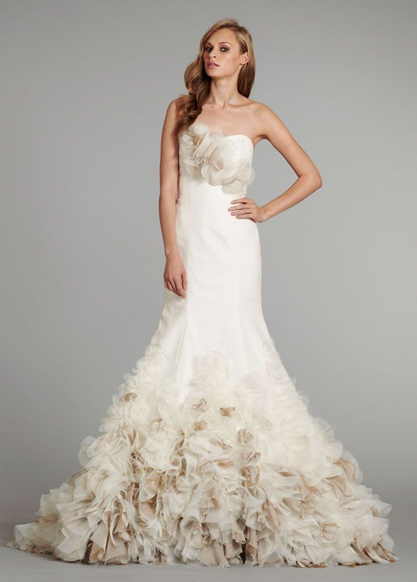 Flower Ruffle Wedding Dress