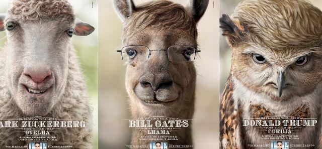Zuckerberg, Gates e Trump reencarnam como animais em campanha - Adnews