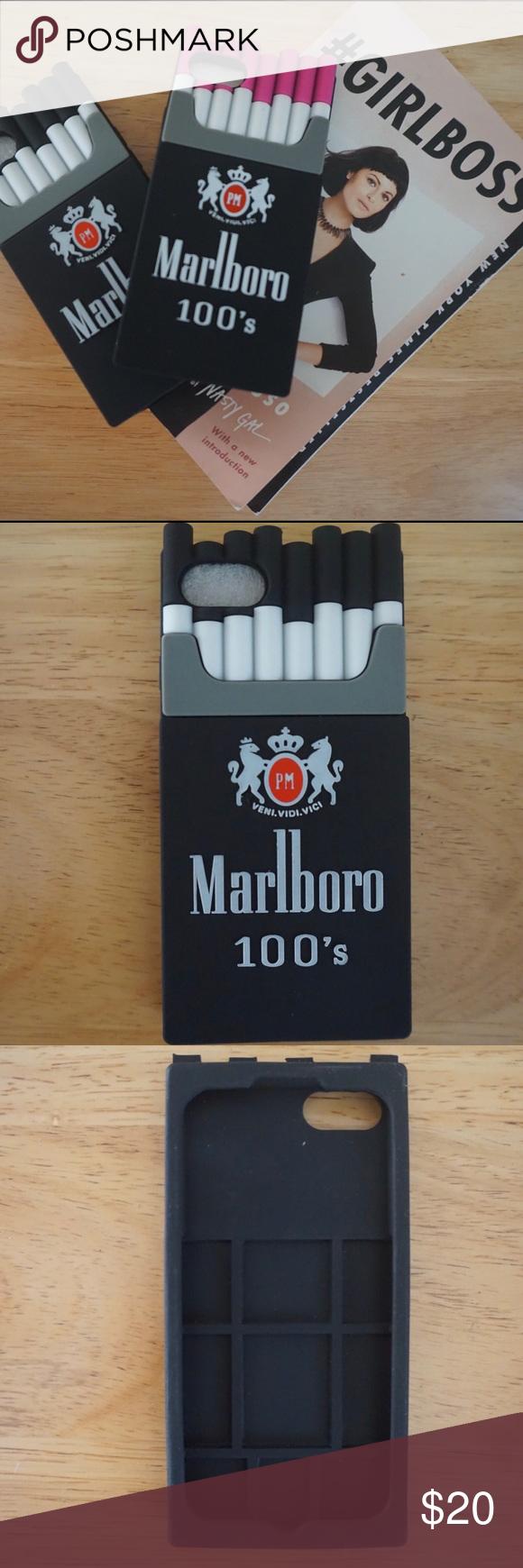 ‼️SALE‼️TRENDY Marlboro Rubber IPHONE 7s,black Boutique