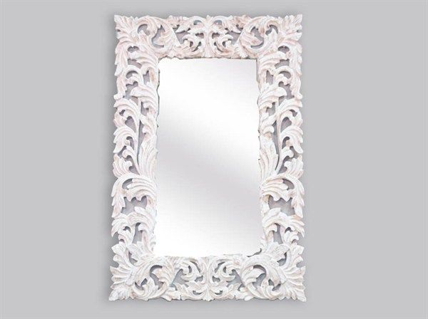 Specchio barocco bianco decape stile #shabbychic 150x100 cm ...