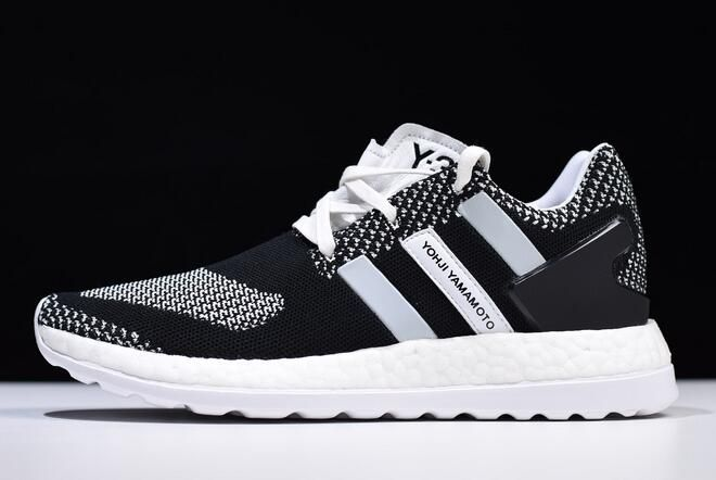 0c12345fa adidas y-3 pure boost zg knit black white aq5731