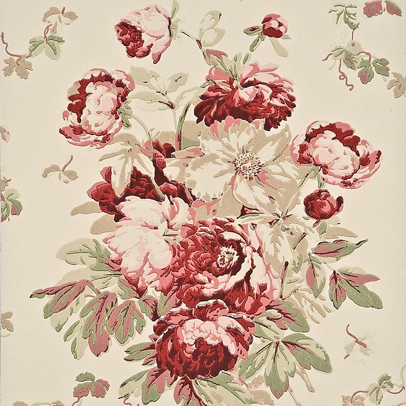 Buy Mulberry Home Garden Peony Wallpaper John Lewis Mulberry Home Peonies Garden Peonies
