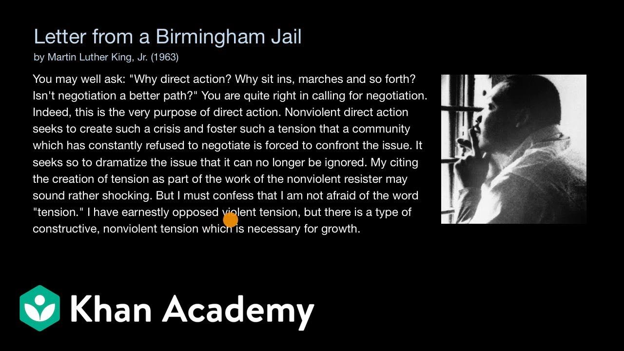 Meaning Of Martin Luther King Letter From Birmingham Jail