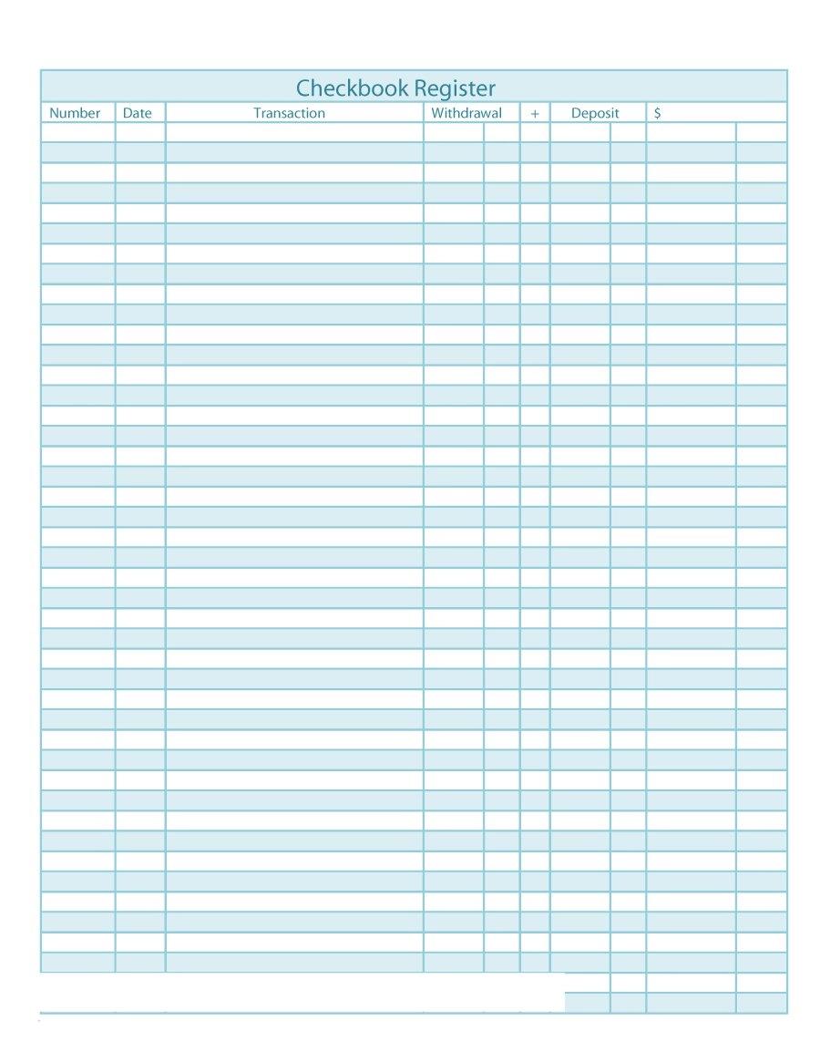 37 Checkbook Register Templates 100% Free, Printable ᐅ ...