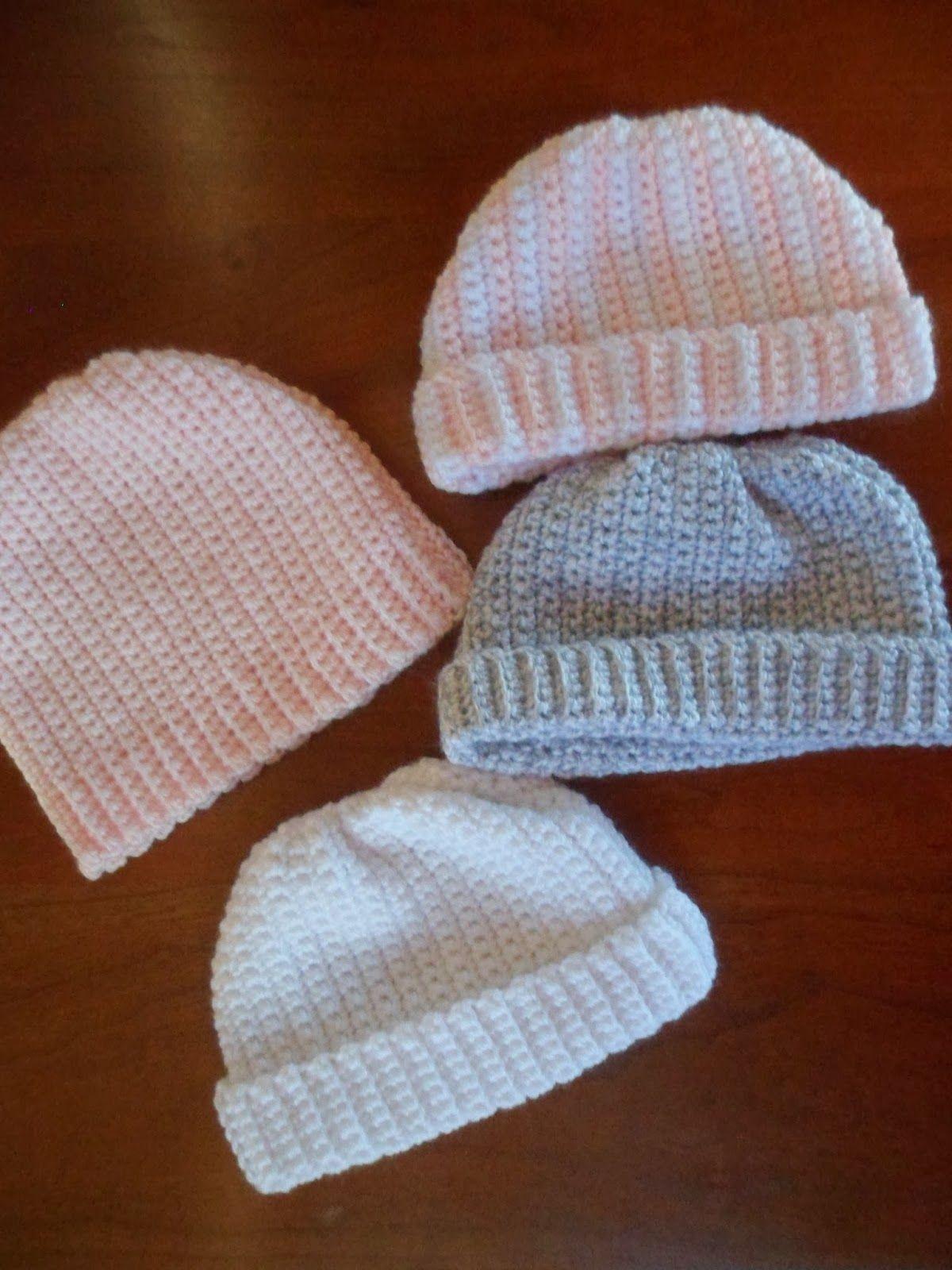 Newborn Crochet Hat Pattern   Newborn crochet hat pattern, Newborn ...