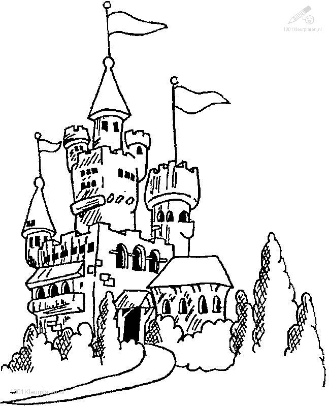 1001 kleurplaten gebouwen gt gt kastelen gt gt kleurplaat