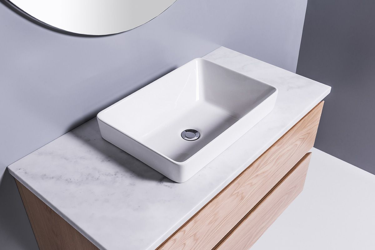 Sleek Rectangle Semi Recessed Basin With Images Semi Recessed