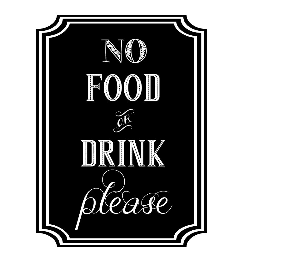 drink food sign please signs drinks room signage history cousins visit activity
