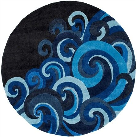 Swirly Waves And Rich Hues Of Blue The Hipster Tidal Wave