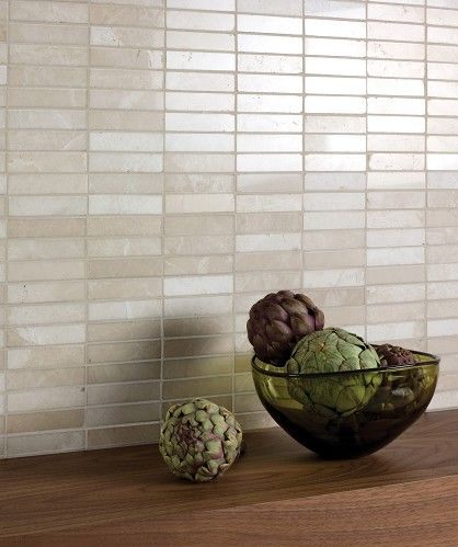 Prestige Stone Latte Marble Linear Mosaic Kitchen Tiles
