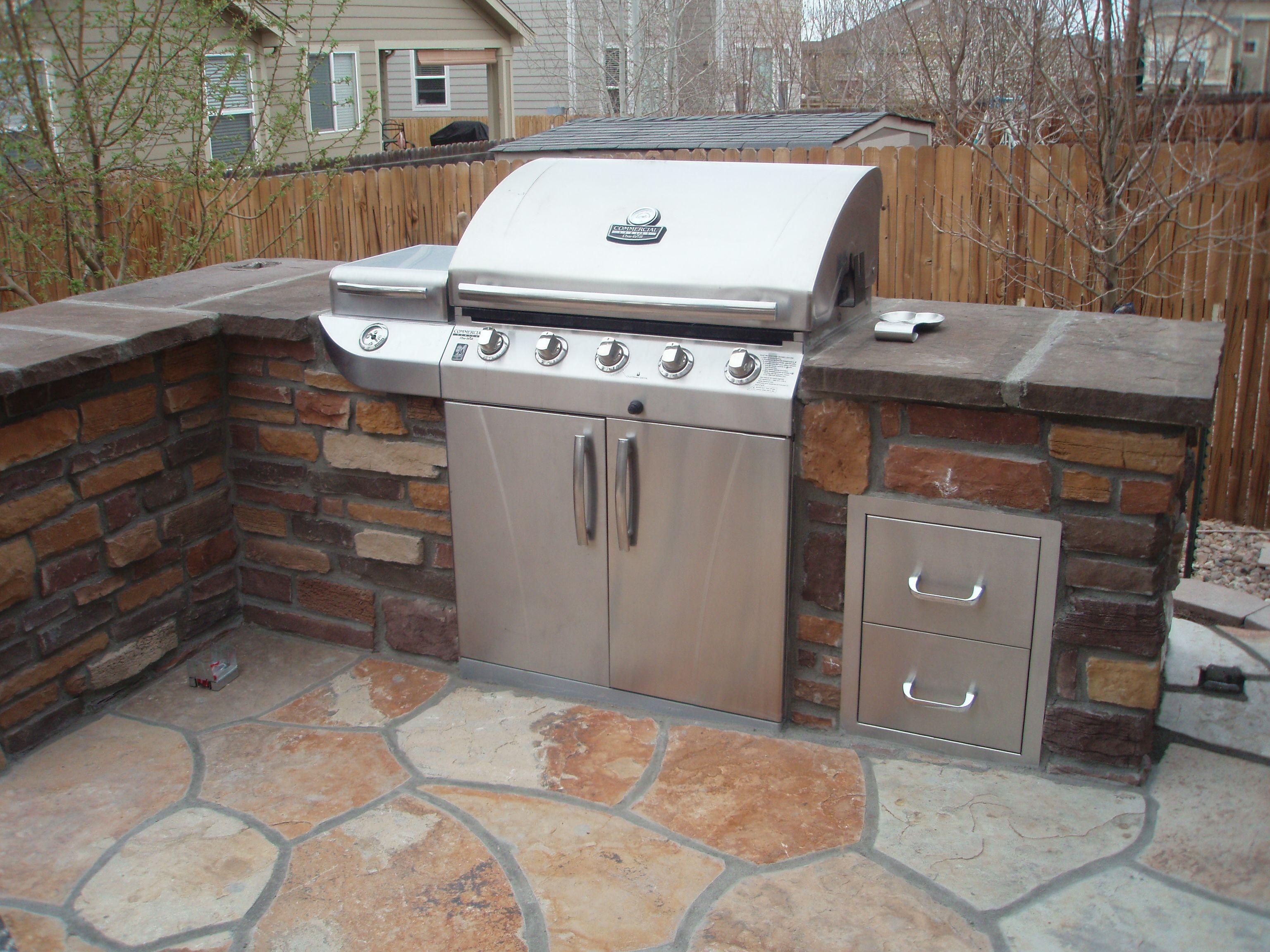 Matador Outdoor Kitchen Matador 4 Burner Stone Finish Outdoor Kitchen From Bunnings