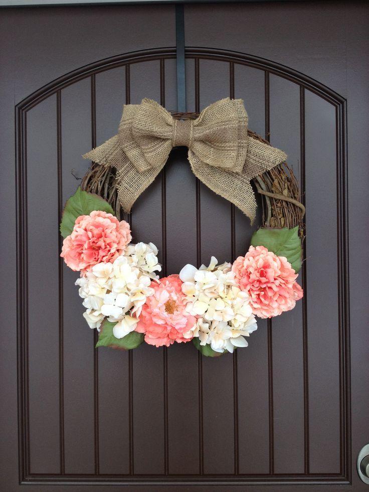 Spring Door Wreath Diy Door Wreath So Easy To Make Only