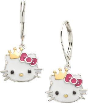 Hello Kitty Sterling Silver and 14k Gold over Sterling Silver