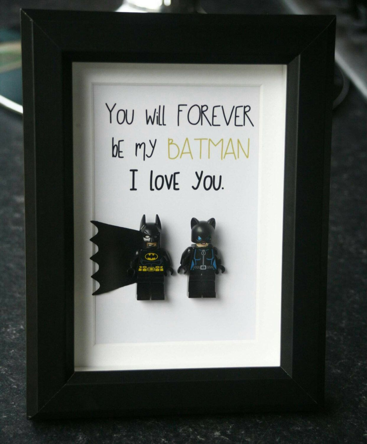 Personalised Batman Superman Gifts Frame Birthday Wedding