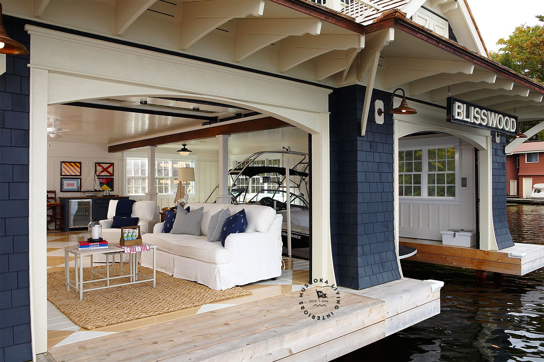 Coastal muskoka living interior design ideas home bunch interior - Boat House Interior By Muskoka Living Interiors