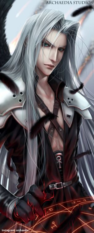 ashcrescent: the-shameful-narcissist: His beauty is truly impossible…Source: http://archaediastudios.deviantart.com/art/Sephiroth-Final-Fantasy-VII-Remake-545629062 I… I think my heart may have just exploded….