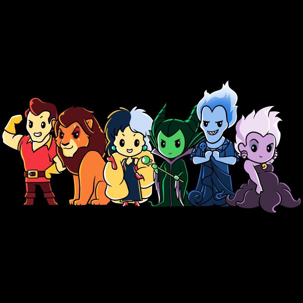 Disney Villains T Shirt Official Disney Tee In 2020 Cute Disney Drawings Cute Disney Characters Cute Disney Wallpaper