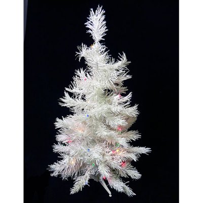 Darice 3 ft White Pine Battery Operated Pre-lit LED Christmas Tree
