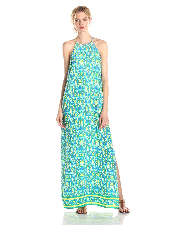 Tiffany Silk Triangle Border Maxi Dress by Alice & Trixie