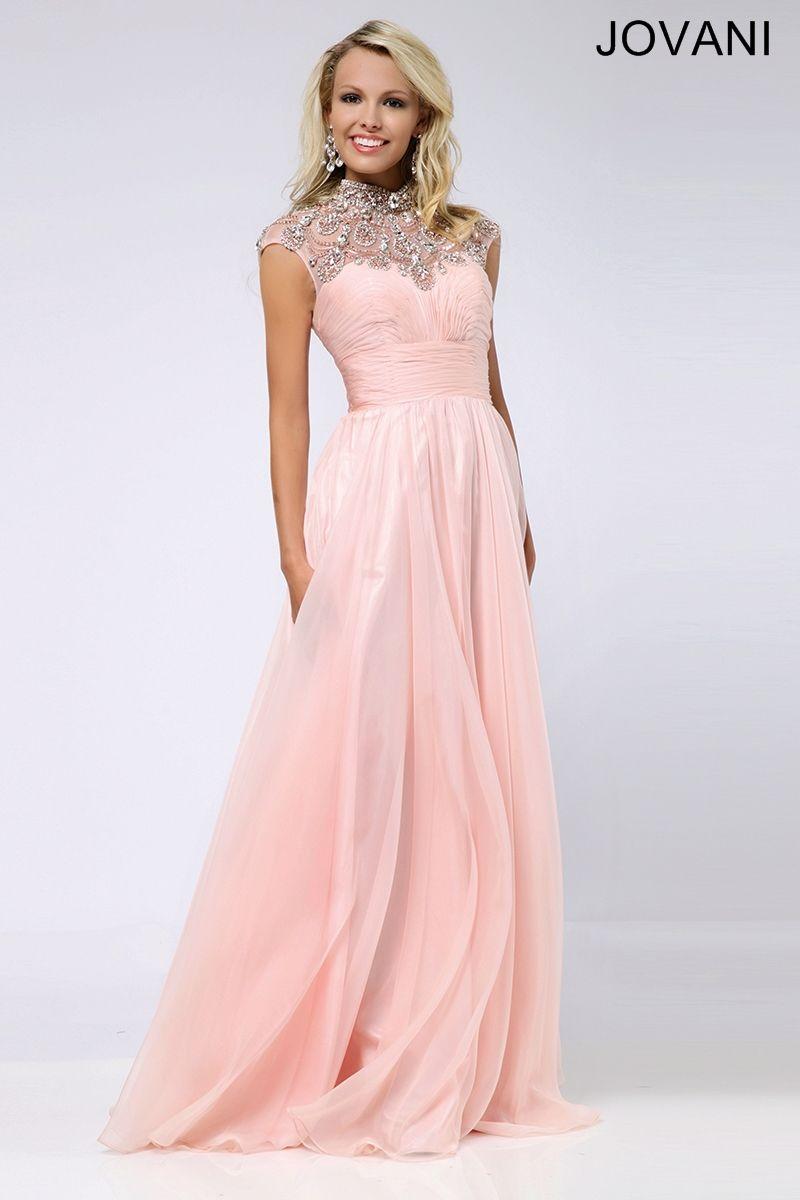 Cap Sleeve Chiffon Gown 20640 | JOVANI | Pinterest