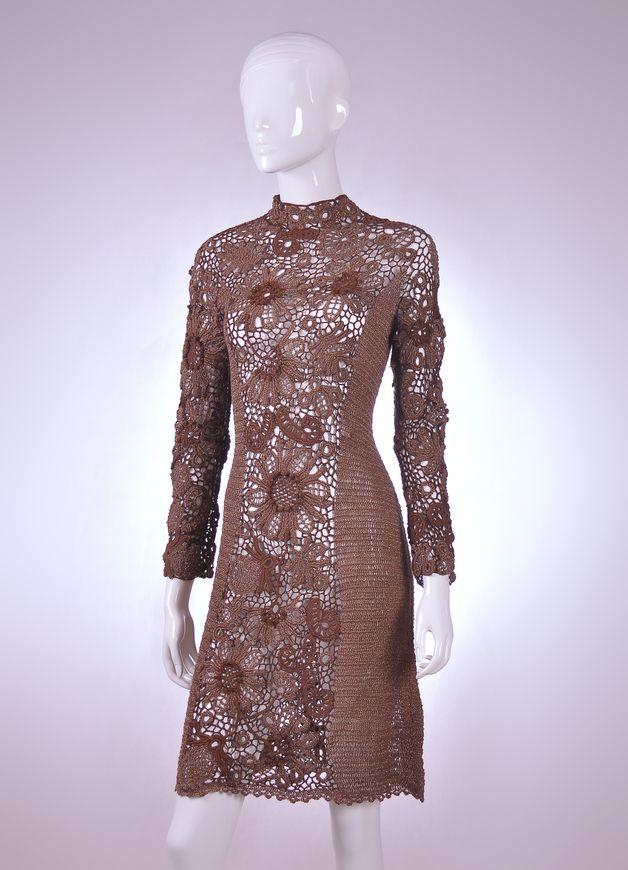 Kleid GEHÄKELT *BAUMWOLLE* echte Handarbeit (mit Bildern ...